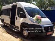 Белый микроавтобус на свадьбу,  Fiat Ducato