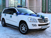 Прокат джипа на свадьбу,  белый Mercedes GL.